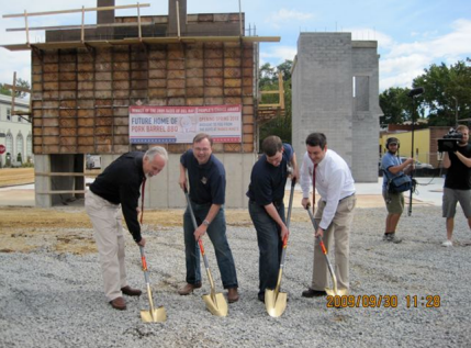 Breaking ground in Del Ray with ABC's Shark Hunt film crew  - photo by Jordan Wright