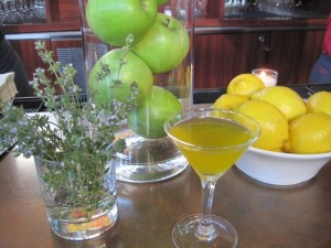 A bit of refreshment with saffron, green apple and rosemary flowers -photo by Jordan Wright