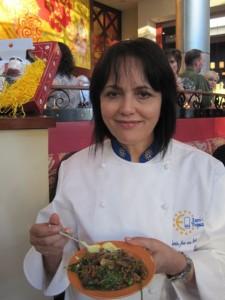 Chef Maria Jose San Ramon at Jaleo's Paella Festival - photo by Jordan Wright