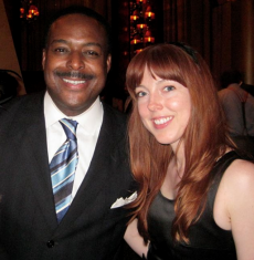 WJLA's Leon Harris and the stunning Holly Macke at Buddha Bar - photo by Jordan Wright