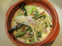 Asparagus Carbonara at Poste Moderne - photo by Jordan Wright