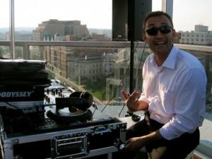 Photo by Jordan Wright - DJ Seyhan Duru really likes the view