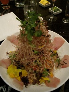 Towering Singapore Slaw at Zentan - photo by Jordan Wright