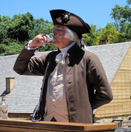 Our first president tipples the good stuff at Mount Vernon - photo by Jordan Wright
