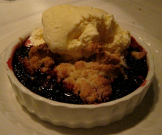 Blackberry Cobbler at Frank's - photo by Jordan Wright