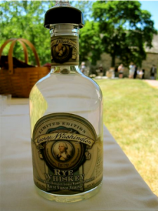 A rare first bottle of George Washington's original recipe rye whiskey - photo by Jordan Wright