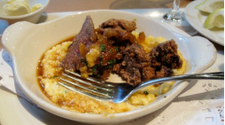 Fried Chicken Livers with Cheese Corn Grits - photo by Jordan Wright