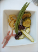 Pickled beans, okra, cucumbers, cherries, peppers and turnips at High Cotton - photo by Jordan Wright