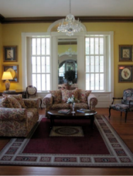 The drawing room at Abingdon Manor - photo by Jordan Wright