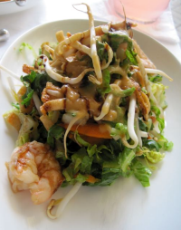 Asian Salad with SC Pink Shrimp at Bistro 217 - photo by Jordan Wright
