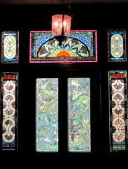 Tiffany glass windows at the Wentworth Mansion in Charleston - photo by Jordan Wright