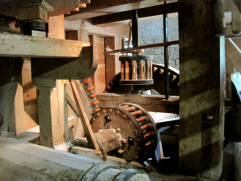 The grist mill at work - photo by Jordan Wright
