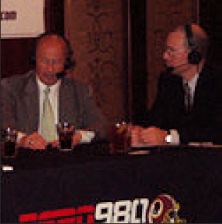 From left ESPN's Thom Loverro, Washington Nationals President, Sam Kasten, Jordan Wright of Whisk and Quill and ESPN's Kevin Sheehan at Morton's DC - photo by Whisk and Quill