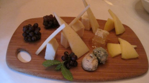 Cheese platter with honeycomb at Taberna Del Alaberdero - photo by Jordan Wright