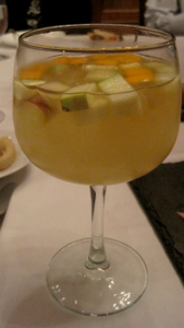 White Sangria at Taberna Del Alaberdero - photo by Jordan Wright