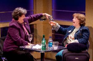 Nancy Robinette and Sherri L. Edelen in Walter Cronkite is Dead.Photo credit Scott Suchman.