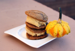 Molasses pumpkin ice cream cookie treats from Sweetbite Creamery