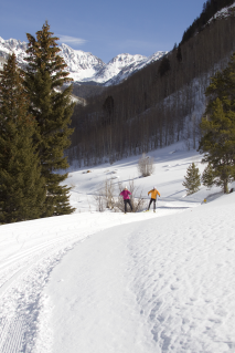 Cross country skiing at the Vail Nordic Center - image courtesy of Cody Downerd