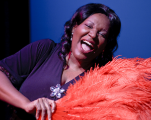 Bernardine Mitchell as Ethel Waters in His Eye is on the Sparrow at MetroStage photo credit: Colin Hovde