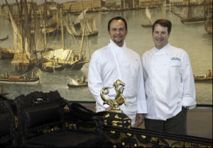 Fabio Trabocchi with National Gallery of Art Chef David Rogers at the recently opened exhibit - image courtesy of the National Gallery of Art