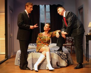 James Raby (Philip Markham), Suzanne Behsudi (Miss Wilkinson), and Charles Boyington (Henry Lodge)   Photography Shane Canfield