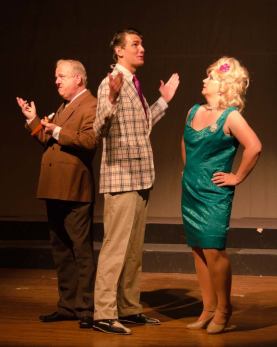 Mark Williams as Harriman F. Spritzer, Gardner Reed as Corny Collins, Janette Moman as Velma Von Tussle - Photography by Doug Olmsted
