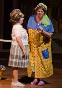 Shannon Kingett as Tracey; Christopher Harris as Edna - Photography by Doug Olmsted
