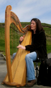 Harpist on the Cliffs of Moher - photo credit Jordan