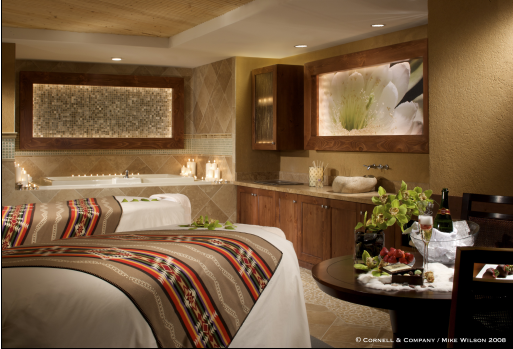 Couples Treatment Room at Wo' Po'in Spa at Buffalo Thunder Resort and Casino - photo credit Buffalo Thunder Resort and Casino
