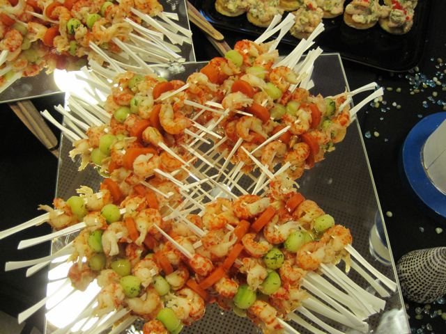 Crayfish skewers at the House of Sweden - photo credit Jordan Wright