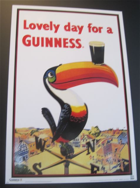 Early poster art from the Guinness Storehouse in Dublin - photo credit Jordan Wright