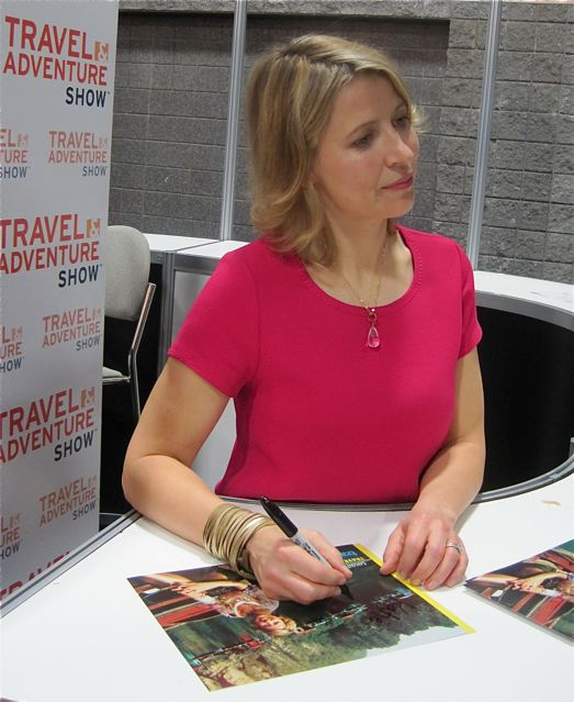 The Travel Channel's Samantha Brown signs programs - photo credit Jordan Wright