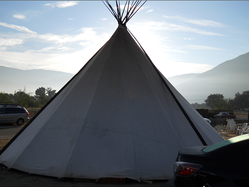 TiPi in Daylight - photo credit Robert Hayward.