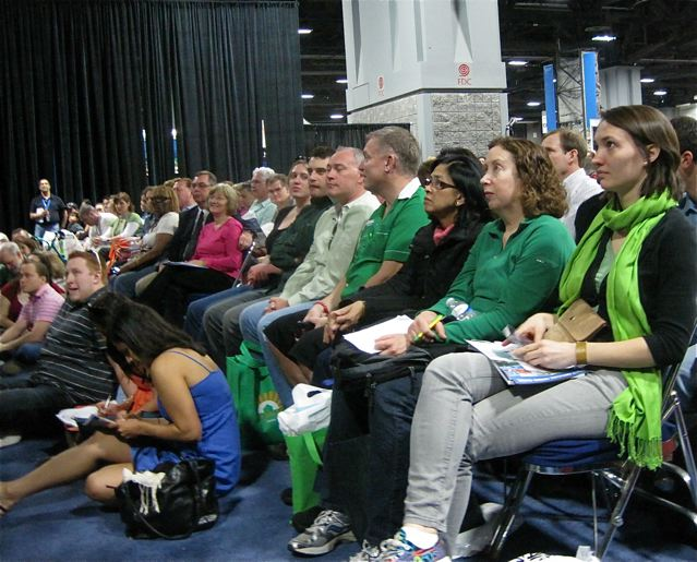 Packed and rapt audience at the Travel and Adventure Show - photo credit Jordan Wright