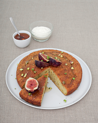 Pistachio Yogurt Cake with Figs & Honey from Fresh & Easy