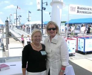Jordan with Barbara Fairchild at the National Harbor WIne & Food Festival