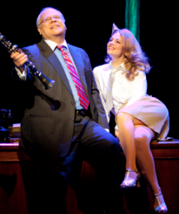 "Harrry A. Winter (as Danny Maguire) and Erin Weaver (as Kira) sing ""Whenever You're Away From Me"". Photo: Scott Suchman"