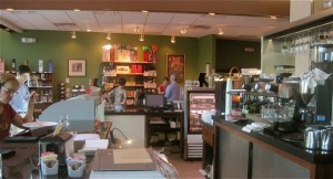 The espresso bar and shop at The Curious Grape - photo credit Jordan Wright
