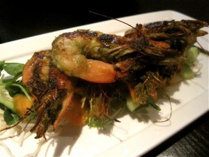Lemongrass shrimp at The Curious Grape - photo credit Jordan Wright