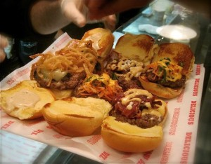 An assortment of burger sliders at Good Stuff Eatery - photo credit Jordan Wright
