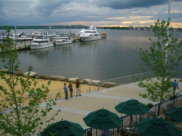 The view from Wolfgang Puck's Sunset Room at National Harbor - photo credit Jordan Wright