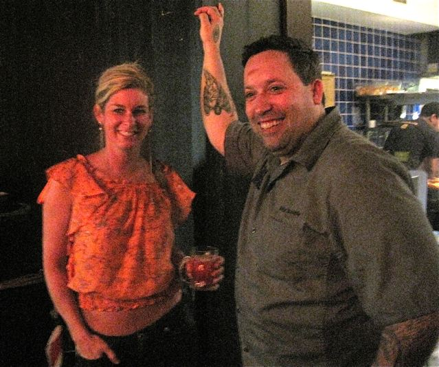 Top Chefs Jen Carroll with Mike Isabella at the opening of his new restaurant Bandelero - photo credit Jordan Wright
