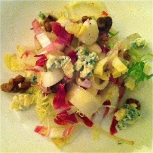 Radicchio, curly endive, walnut salad with Cashel blue cheese at The Grille at Morrison House - photo credit Jordan Wright