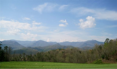 View of the Great Smoky Mountains from the Sequoyah National Golf Course - photo credit Jordan Wright