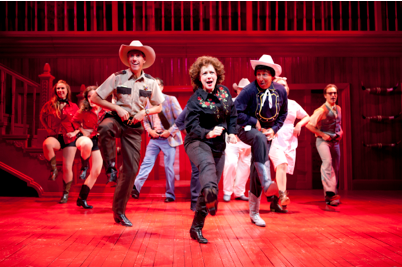 "Sherri L. Edelen (as Miss Mona, center) leads the cast of ""The Best Little Whorehouse in Texas"" in the production's toe-tapping finale. . Photo: Scott Suchman."