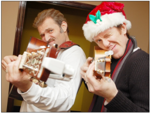 """Holiday Guys"" - Marc Kudisch (left) and Jeffry Denman. Photo courtesy of Signature Theatre"