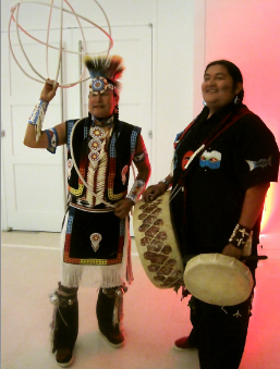 Five-time World Champion Hoop Dancer Suwaima and Drummer - photo Jordan Wright Photo from Oct 17, 2012