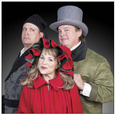 Broadway Christmas Carol - Michael Sharp,Tracey Stephens and Jacob Kidder. Photo courtesy of Metro Stage.