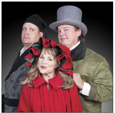 Broadway Christmas Carol - Michael Sharp,Tracey Stephens and Jacob Kidder. Photo courtesy of Metro Stage.