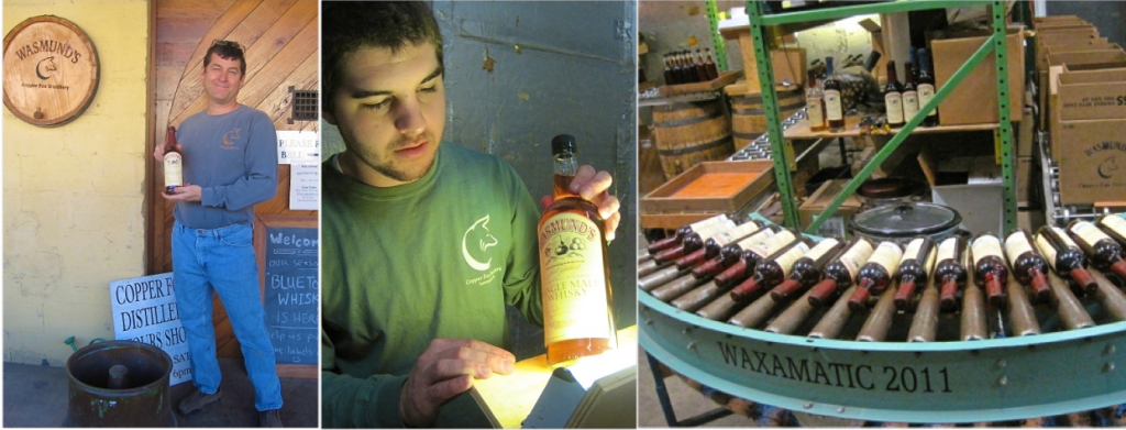 Founder Copper Fox Distillery Rick Wasmund - Bottle Labeler and Wax Cap Sealer - Photo credit Jordan Wright